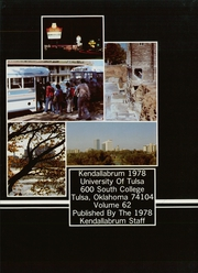 Page 5, 1978 Edition, University of Tulsa - Kendallabrum (Tulsa, OK) online yearbook collection