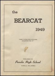 Page 5, 1949 Edition, Panola High School - Bearcat Yearbook (Panola, OK) online yearbook collection