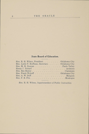 Page 7, 1914 Edition, Southwestern Oklahoma State University - Bulldog Yearbook (Weatherford, OK) online yearbook collection