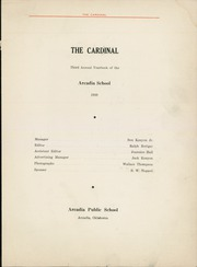 Page 5, 1939 Edition, Arcadia High School - Cardinal Yearbook (Arcadia, OK) online yearbook collection