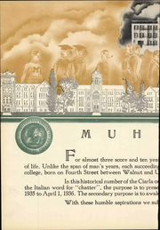 Page 12, 1937 Edition, Muhlenberg College - Ciarla Yearbook (Allentown, PA) online yearbook collection