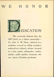 Page 15, 1937 Edition, Muhlenberg College - Ciarla Yearbook (Allentown, PA) online yearbook collection