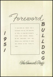 Page 9, 1951 Edition, Vinson High School - Bulldog Yearbook (Vinson, OK) online yearbook collection