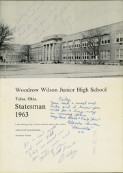 Page 3, 1963 Edition, Woodrow Wilson Middle School - Statesman Yearbook (Tulsa, OK) online yearbook collection