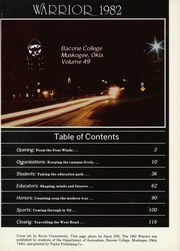 Page 5, 1982 Edition, Bacone College - Warrior Yearbook (Muskogee, OK) online yearbook collection