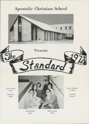 Page 5, 1972 Edition, Apostolic Christian School - Standard Yearbook (Tulsa, OK) online yearbook collection