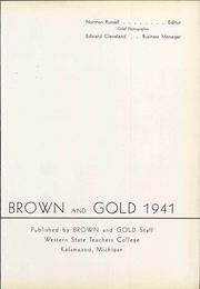 Page 9, 1941 Edition, Western Michigan University - Brown and Gold Yearbook (Kalamazoo, MI) online yearbook collection