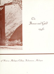 Page 9, 1946 Edition, Western Michigan University - Brown and Gold Yearbook (Kalamazoo, MI) online yearbook collection