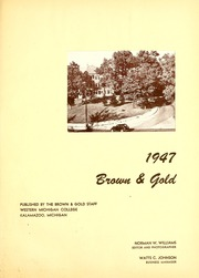 Page 9, 1947 Edition, Western Michigan University - Brown and Gold Yearbook (Kalamazoo, MI) online yearbook collection