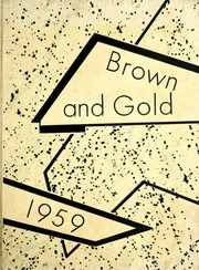 1959 Edition, Western Michigan University - Brown and Gold Yearbook (Kalamazoo, MI)