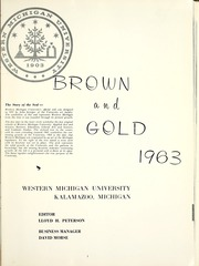Page 5, 1963 Edition, Western Michigan University - Brown and Gold Yearbook (Kalamazoo, MI) online yearbook collection