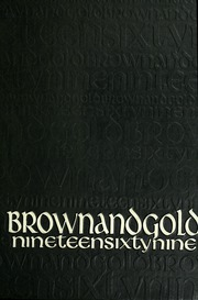 1969 Edition, Western Michigan University - Brown and Gold Yearbook (Kalamazoo, MI)