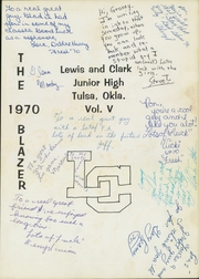 Page 3, 1970 Edition, Lewis and Clark Junior High School - Blazer Yearbook (Tulsa, OK) online yearbook collection