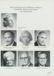 Page 11, 1985 Edition, Oklahoma College of Osteopathic Medicine and Surgery - Pinnacle Yearbook (Tulsa, OK) online yearbook collection