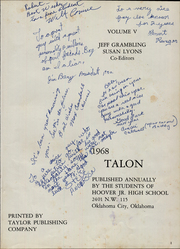 Page 5, 1968 Edition, Hoover Middle School - Talon Yearbook (Oklahoma City, OK) online yearbook collection