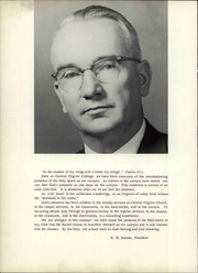 Page 10, 1962 Edition, Central Pilgrim College - Alethea Yearbook (Bartlesville, OK) online yearbook collection