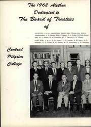 Page 8, 1962 Edition, Central Pilgrim College - Alethea Yearbook (Bartlesville, OK) online yearbook collection