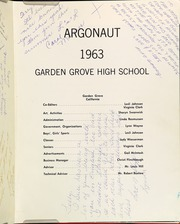 Page 5, 1963 Edition, Garden Grove High School - Argonaut Yearbook (Garden Grove, CA) online yearbook collection