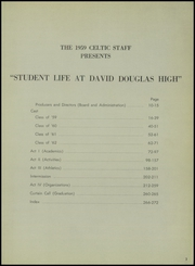 Page 7, 1959 Edition, David Douglas High School - Celtic Yearbook (Portland, OR) online yearbook collection
