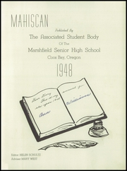 Page 5, 1948 Edition, Marshfield High School - Mahiscan Yearbook (Coos Bay, OR) online yearbook collection