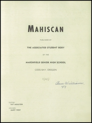 Page 3, 1949 Edition, Marshfield High School - Mahiscan Yearbook (Coos Bay, OR) online yearbook collection