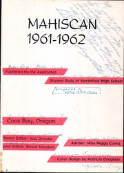 Page 5, 1962 Edition, Marshfield High School - Mahiscan Yearbook (Coos Bay, OR) online yearbook collection