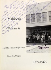 Page 5, 1966 Edition, Marshfield High School - Mahiscan Yearbook (Coos Bay, OR) online yearbook collection