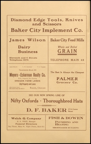 Page 4, 1911 Edition, Baker High School - Nugget Yearbook (Baker City, OR) online yearbook collection