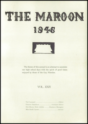 Page 3, 1946 Edition, Milwaukie High School - Maroon Yearbook (Milwaukie, OR) online yearbook collection