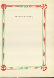 Page 5, 1929 Edition, Benson Polytechnic High School - BluePrint Yearbook (Portland, OR) online yearbook collection