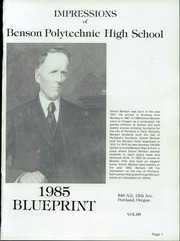 Page 5, 1985 Edition, Benson Polytechnic High School - BluePrint Yearbook (Portland, OR) online yearbook collection