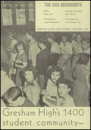 Page 5, 1951 Edition, Gresham High School - Munhinotu Yearbook (Gresham, OR) online yearbook collection