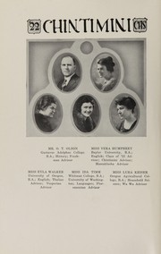Page 16, 1922 Edition, Corvallis High School - Chintimini Yearbook (Corvallis, OR) online yearbook collection