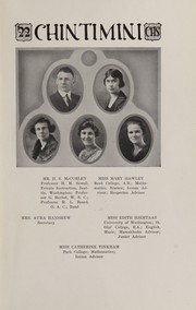 Page 17, 1922 Edition, Corvallis High School - Chintimini Yearbook (Corvallis, OR) online yearbook collection