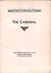 Page 7, 1931 Edition, Lincoln High School - Cardinal Yearbook (Portland, OR) online yearbook collection