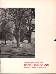 Page 3, 1956 Edition, Lincoln High School - Cardinal Yearbook (Portland, OR) online yearbook collection
