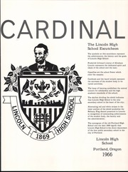 Page 5, 1966 Edition, Lincoln High School - Cardinal Yearbook (Portland, OR) online yearbook collection