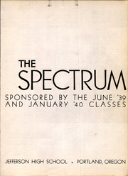 Page 3, 1940 Edition, Jefferson High School - Spectrum Yearbook (Portland, OR) online yearbook collection