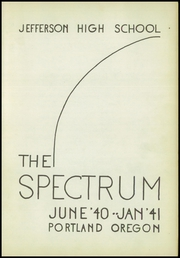 Page 5, 1941 Edition, Jefferson High School - Spectrum Yearbook (Portland, OR) online yearbook collection