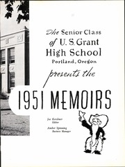 Page 9, 1951 Edition, Grant High School - Memoirs Yearbook (Portland, OR) online yearbook collection