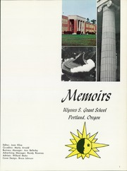 Page 5, 1969 Edition, Grant High School - Memoirs Yearbook (Portland, OR) online yearbook collection