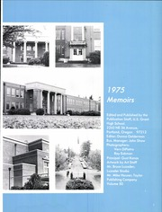 Page 5, 1975 Edition, Grant High School - Memoirs Yearbook (Portland, OR) online yearbook collection