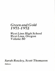 Page 5, 1972 Edition, West Linn High School - Green and Gold Yearbook (West Linn, OR) online yearbook collection