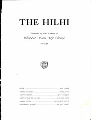 Page 7, 1954 Edition, Hillsboro High School - Hilhi Yearbook (Hillsboro, OR) online yearbook collection