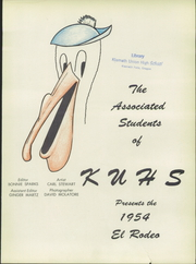 Page 7, 1954 Edition, Klamath Union High School - El Rodeo Yearbook (Klamath Falls, OR) online yearbook collection