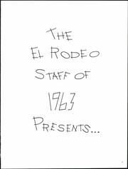 Page 5, 1963 Edition, Klamath Union High School - El Rodeo Yearbook (Klamath Falls, OR) online yearbook collection