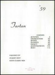 Page 5, 1959 Edition, North Eugene High School - Tartan Yearbook (Eugene, OR) online yearbook collection