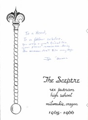 Page 7, 1966 Edition, Rex Putnam High School - Sceptre Yearbook (Milwaukie, OR) online yearbook collection