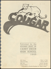 Page 3, 1940 Edition, Canby High School - Cougar Yearbook (Canby, OR) online yearbook collection
