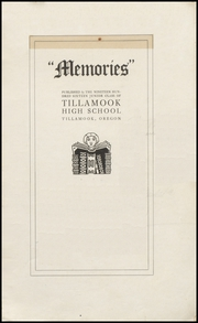 Page 3, 1917 Edition, Tillamook High School - Kilchis Yearbook (Tillamook, OR) online yearbook collection